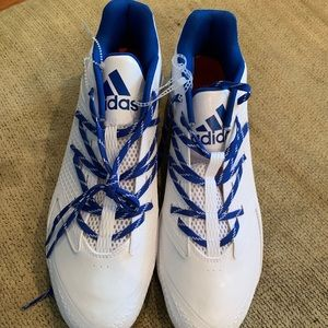Adidas football cleats, NWOT, size 14
